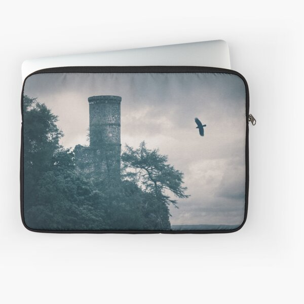 """The Tower Of Kinnoull Hill"" by Cat Burton Laptop Sleeve"