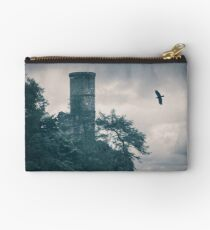 """""""The Tower Of Kinnoull Hill"""" by Cat Burton Studio Pouch"""
