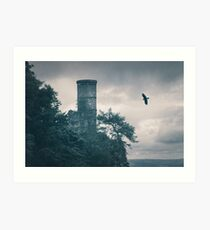 """The Tower Of Kinnoull Hill"" by Cat Burton Art Print"