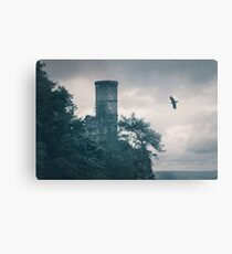 """""""The Tower Of Kinnoull Hill"""" by Cat Burton Metal Print"""