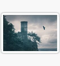 """""""The Tower Of Kinnoull Hill"""" by Cat Burton Sticker"""