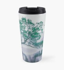 """The Tree In The Lake"" by Cat Burton Travel Mug"