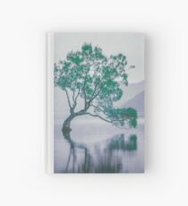 """""""The Tree In The Lake"""" by Cat Burton Hardcover Journal"""