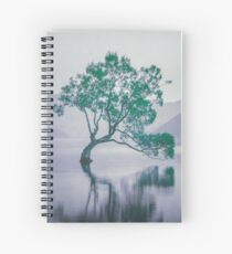 """The Tree In The Lake"" by Cat Burton Spiral Notebook"