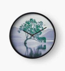"""""""The Tree In The Lake"""" by Cat Burton Clock"""