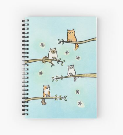 Cats in Trees Spiral Notebook