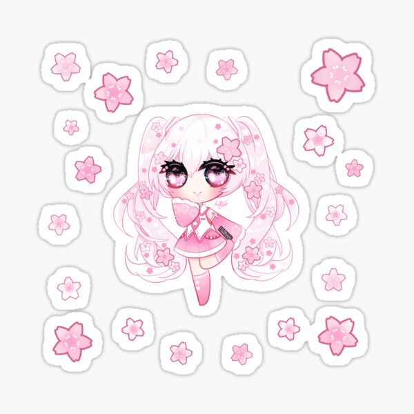 Ⓢⓐⓚⓤⓡⓐ Ⓜⓘⓚⓤ Chibi Sticker