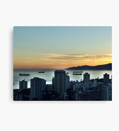 Downtown Vancouver and English Bay Canvas Print