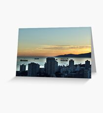 Downtown Vancouver and English Bay Greeting Card