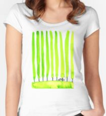 Enthusiastic cypress Women's Fitted Scoop T-Shirt