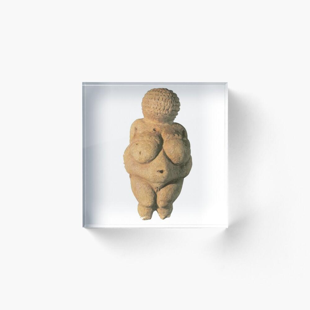 #Venus of #Willendorf #artifact sculpture art figurine statue humanbody #VenusofWillendorf Acrylic Block