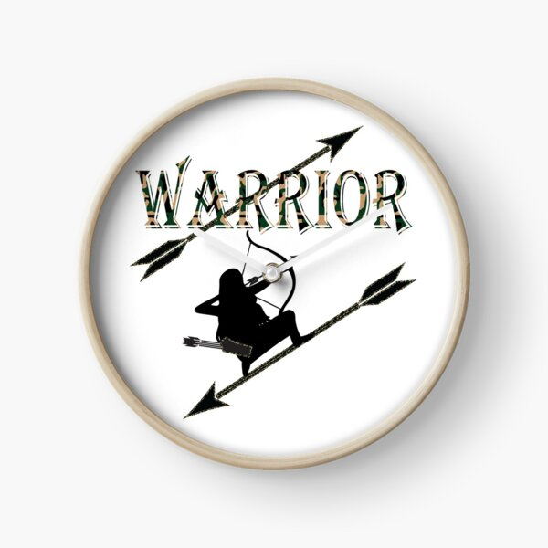Warrior, Woman, Bow Hunter, Archery Clock