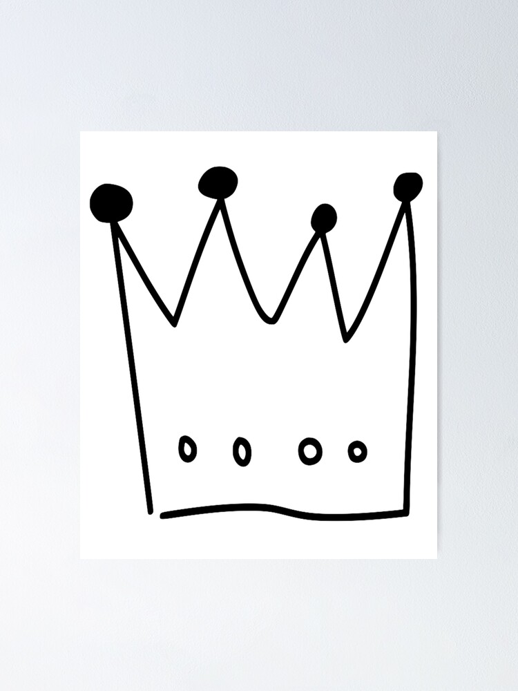 Black Cartoon Crown Poster By Yotaeji Redbubble Black and white cartoon crown stock illustration. black cartoon crown poster by yotaeji redbubble