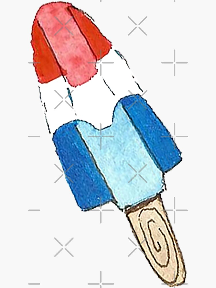 Bomb Pop - Watercolor Popsicle Pattern by annieparsons