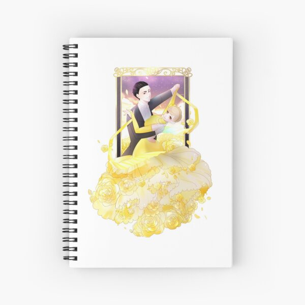 Frame and Flower Spiral Notebook