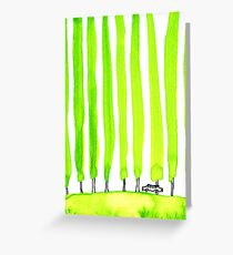 Enthusiastic cypress Greeting Card