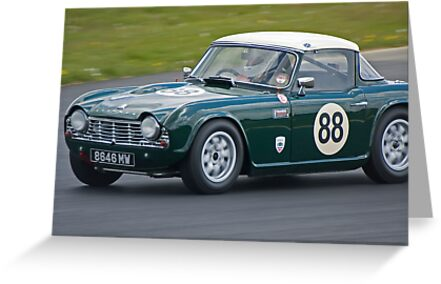 1962 Triumph Tr4 Greeting Cards By Willie Jackson Redbubble
