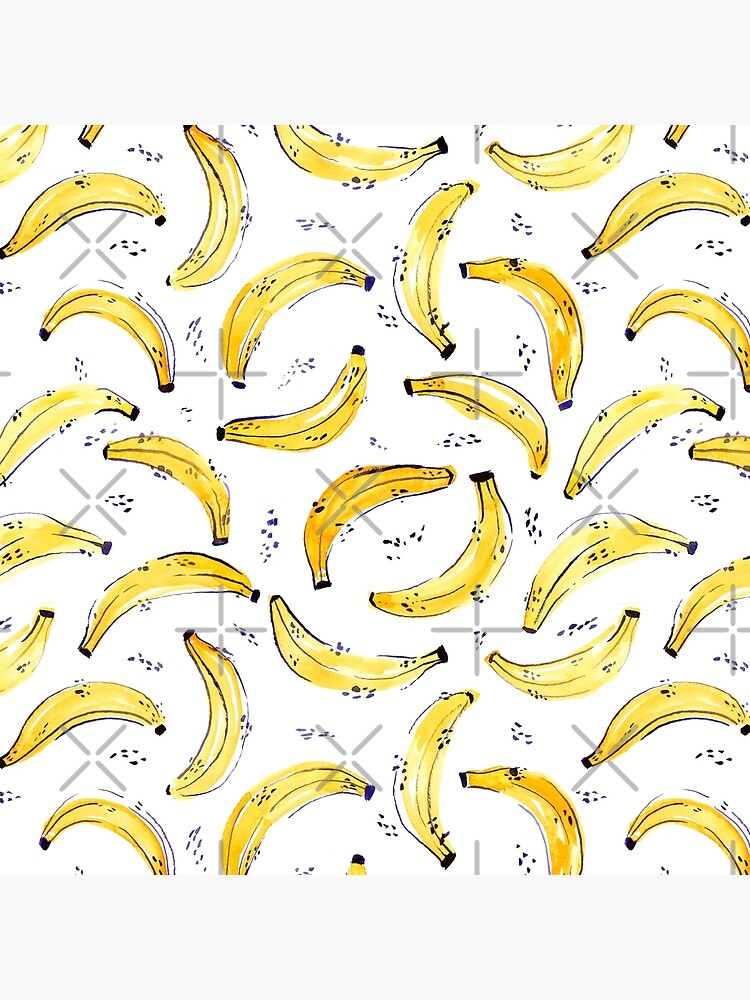 A Bunch of Bananas Watercolor Pattern by annieparsons