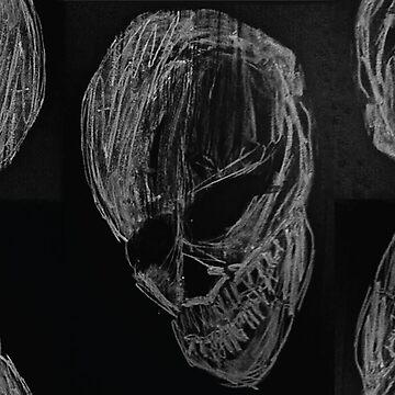Chalkboard Skull by jaxrobyn