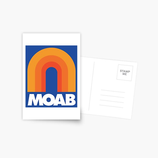 Moab Utah Retro Designs Postcard