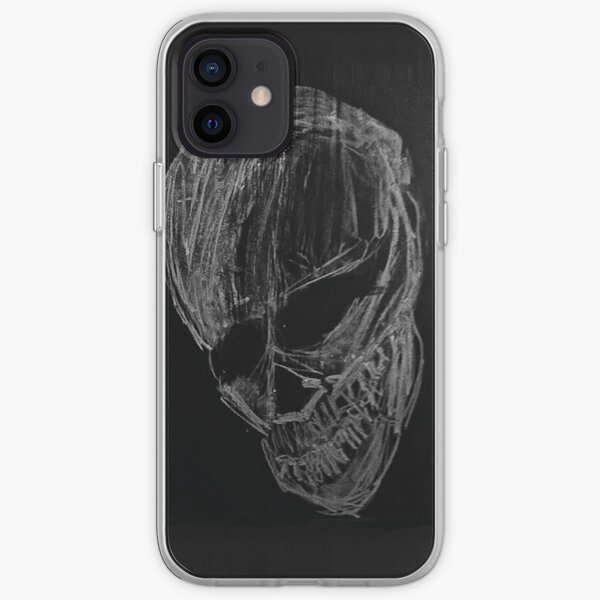 Chalkboard Skull iPhone Soft Case