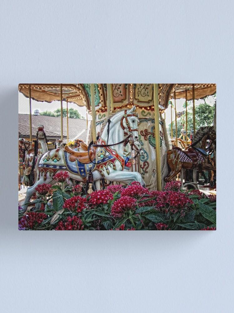 Alternate view of Carousel Horses Canvas Print