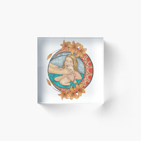 Waterbirth Blessings Acrylic Block