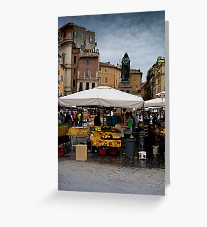 Campo Di Fiori Greeting Card