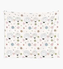 Sheep in love Wall Tapestry