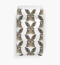 Hipster-Kaninchen Bettbezug
