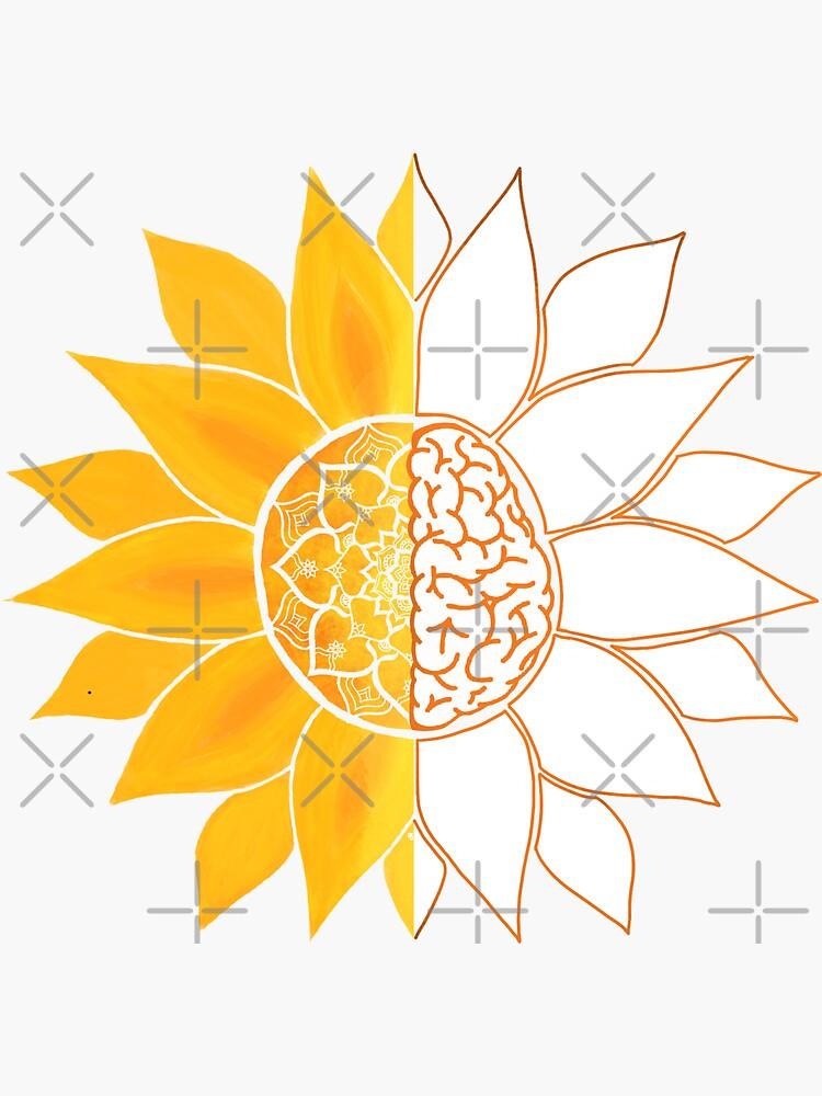 The Sun Will Rise and We Will Try Again - Sunshine Brain Mandala  by RumDesigns
