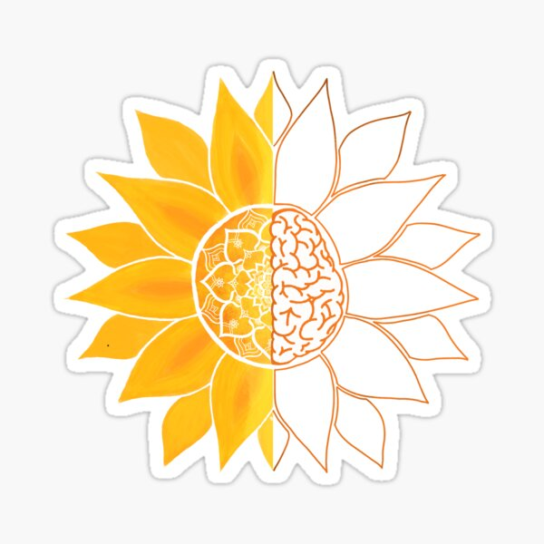 The Sun Will Rise and We Will Try Again - Sunshine Brain Mandala  Sticker