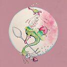 Blooming Rose Tea Dragon by GwenPhifer