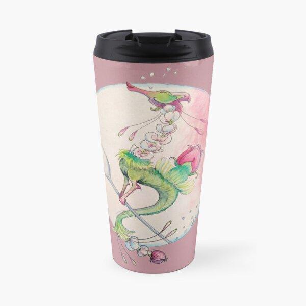 Blooming Rose Tea Dragon Travel Mug