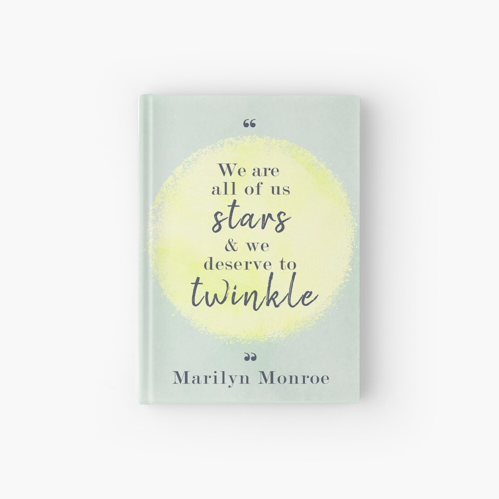 Marilyn Monroe Quote Hardcover Journal