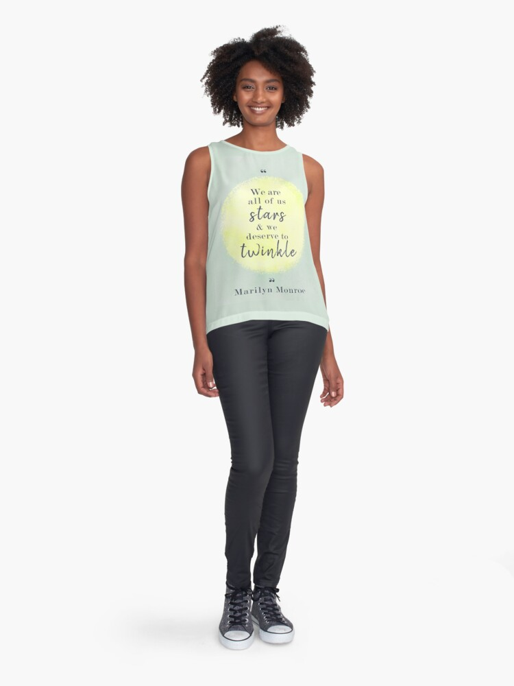 Alternate view of Marilyn Monroe Quote Sleeveless Top