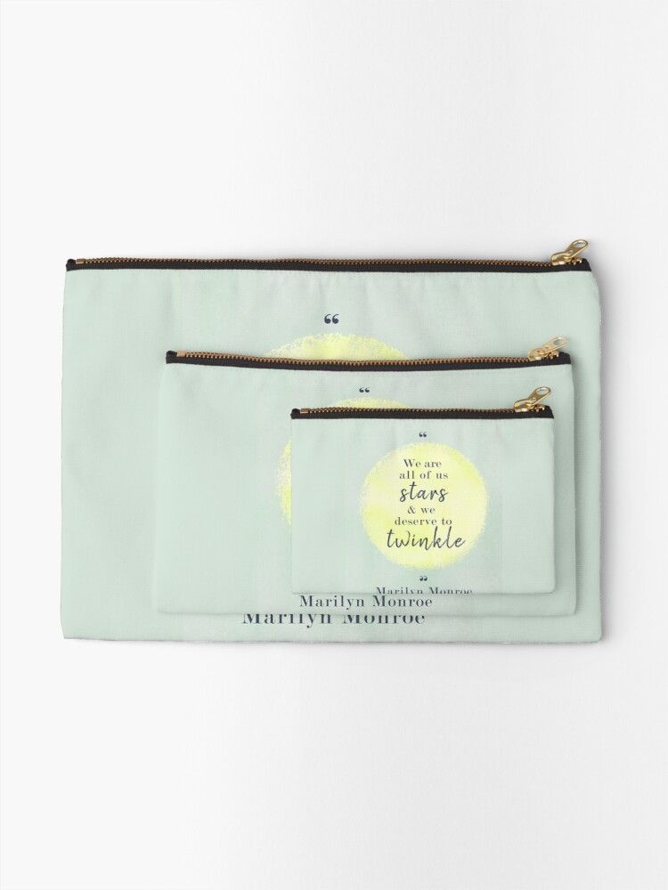 Alternate view of Marilyn Monroe Quote Zipper Pouch