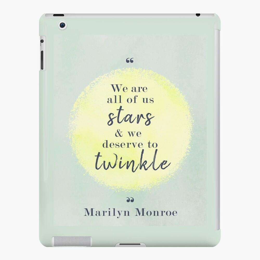 Marilyn Monroe Quote iPad Case & Skin
