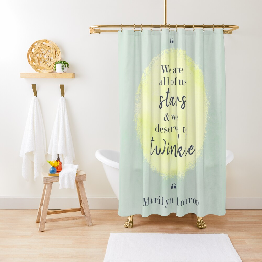 Marilyn Monroe Quote Shower Curtain