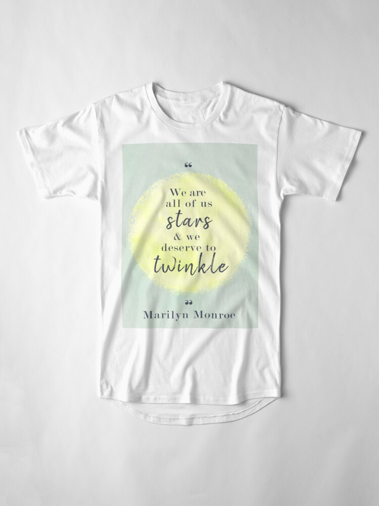 Alternate view of Marilyn Monroe Quote Long T-Shirt