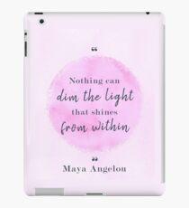 Maya Angelou Famous Quote iPad Case/Skin