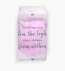 Maya Angelou Famous Quote Duvet Cover