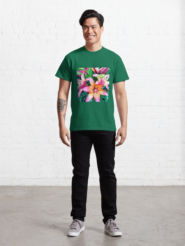 Alternate view of Lilypalooza - Floral Art Photography - Pink and Orange Lily Flower - Gift for Gardener  Classic T-Shirt