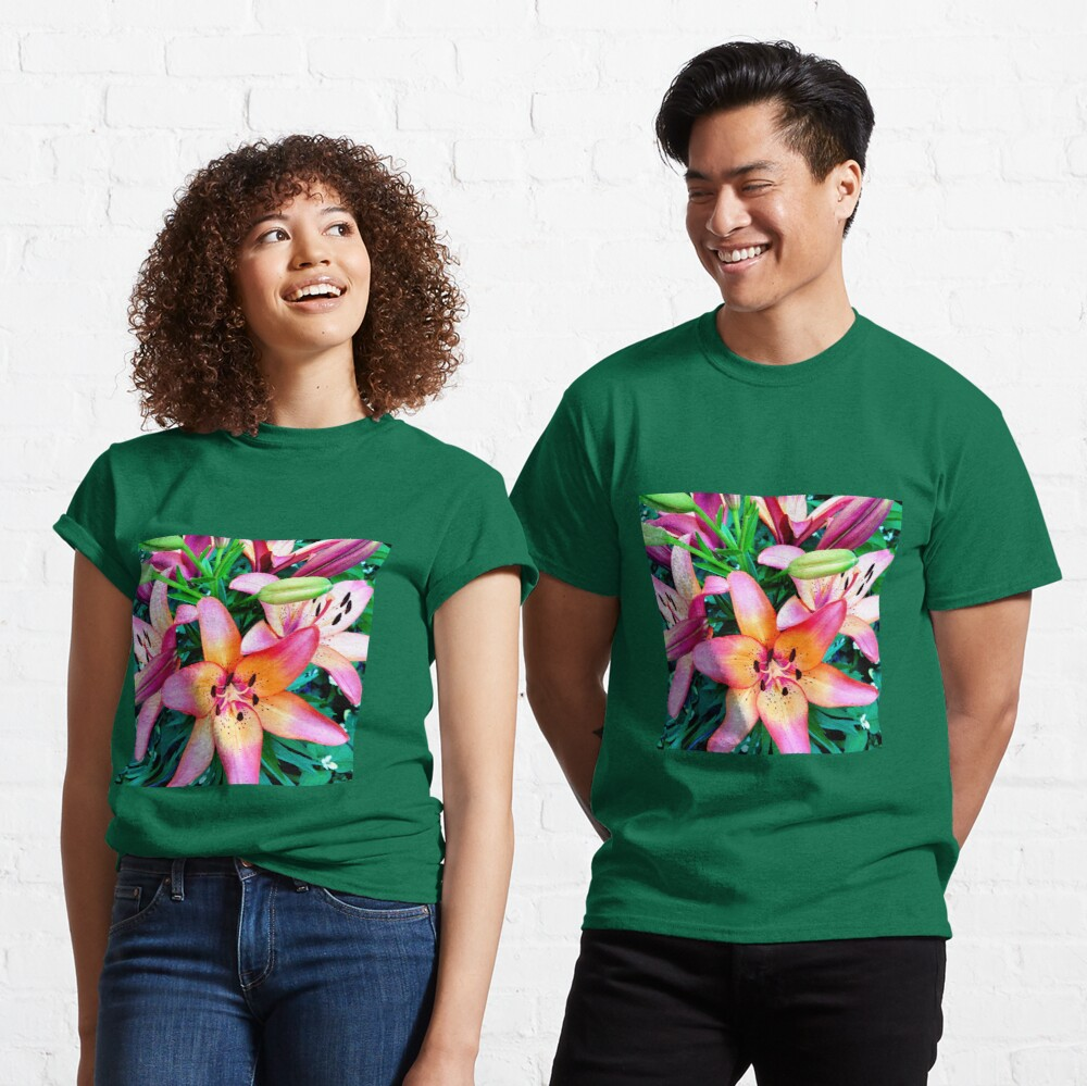 Lilypalooza - Floral Art Photography - Pink and Orange Lily Flower - Gift for Gardener  Classic T-Shirt