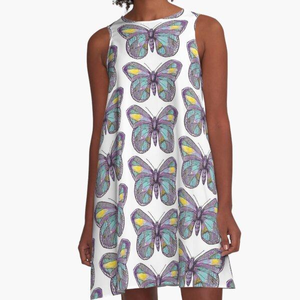 Vintage Butterfly A-Line Dress