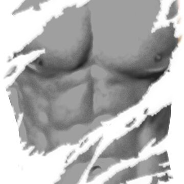 Abs Six Pack Man Scratched by dezing