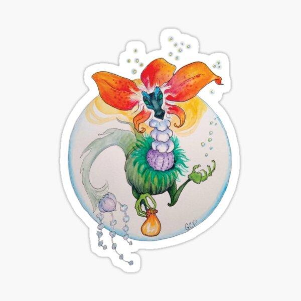 Blooming Fancy Tea Dragon - sticker Sticker