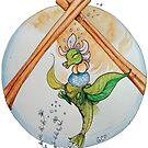 Sugar & Spice Blooming Tea Dragon - sticker by GwenPhifer