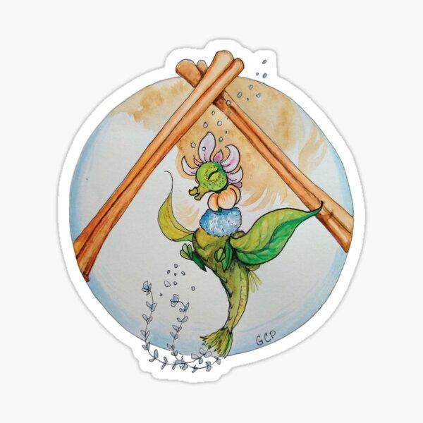 Sugar & Spice Blooming Tea Dragon - sticker Sticker