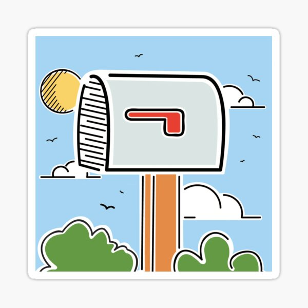 World's Largest Mailbox Illustration | Big Things Small Town | Casey Illinois Sticker